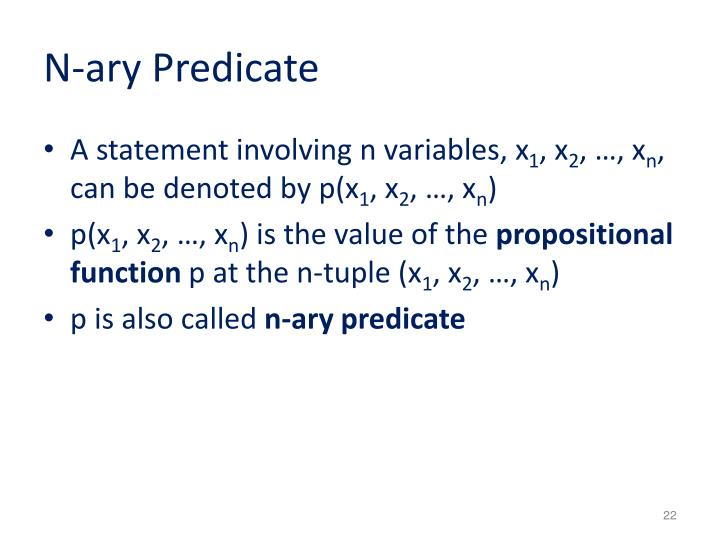 N-ary Predicate