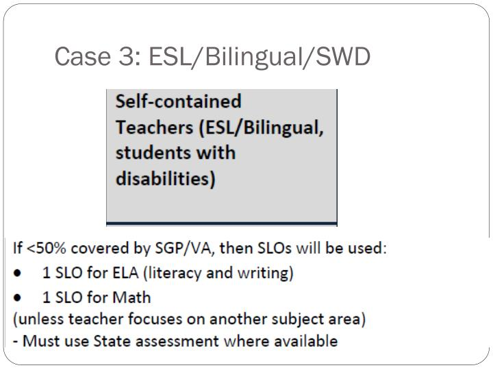Case 3: ESL/Bilingual/SWD