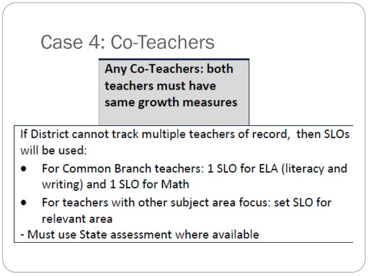 Case 4: Co-Teachers