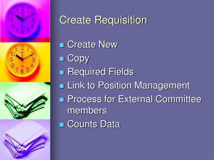 Create Requisition