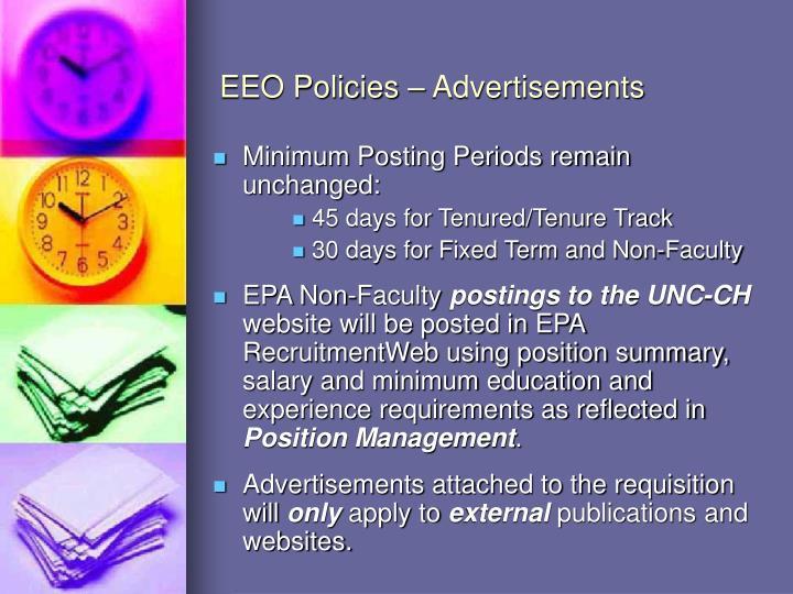 EEO Policies – Advertisements