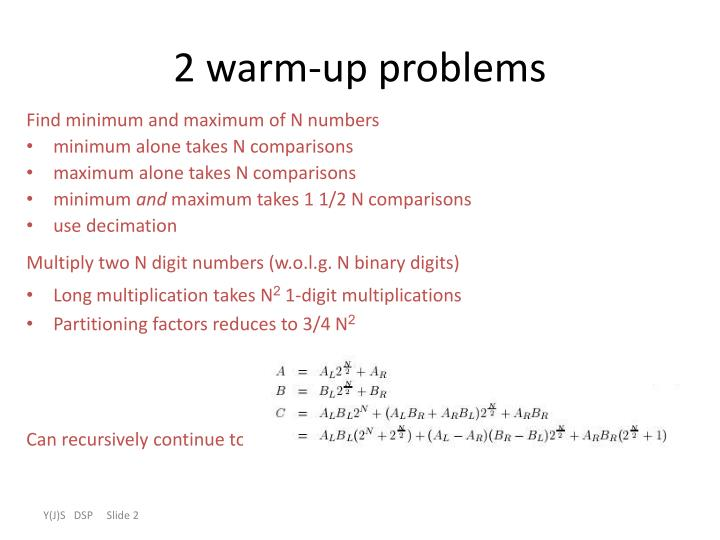 2 warm up problems
