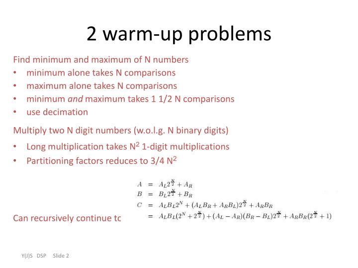 2 warm-up problems
