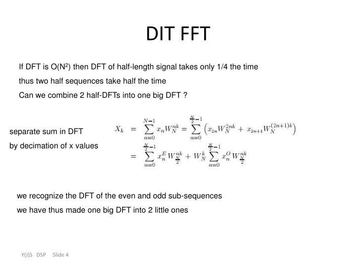 DIT FFT