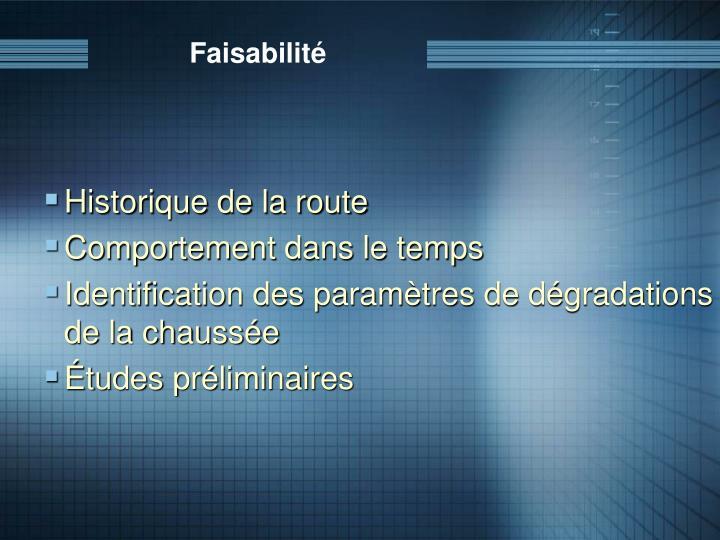 Faisabilité