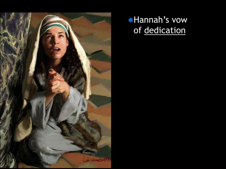 Hannah's vow of