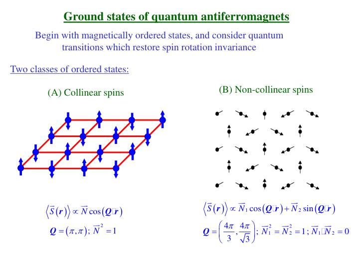 Ground states of quantum antiferromagnets
