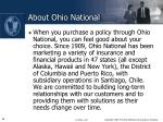 about ohio national