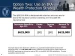 option two use an ira wealth protection strategy