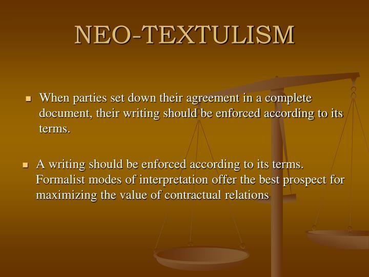 NEO-TEXTULISM