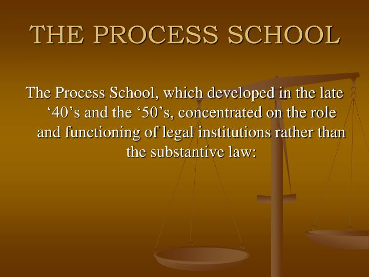 THE PROCESS SCHOOL