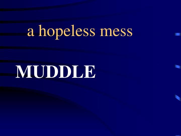 a hopeless mess