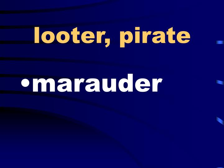 looter, pirate