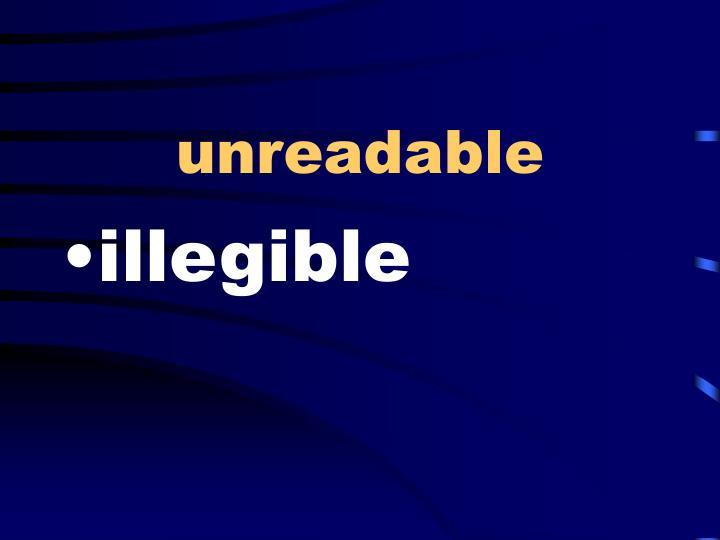 unreadable