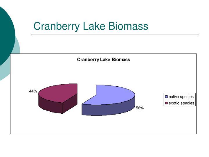 Cranberry Lake Biomass