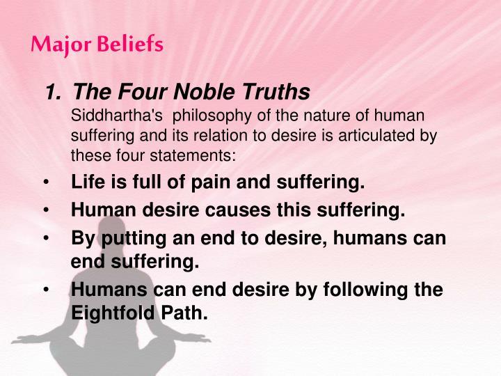 Major Beliefs