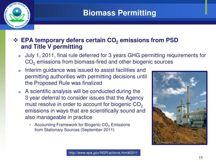 Biomass GHG Permitting