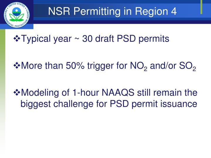 NSR Permitting in Region 4