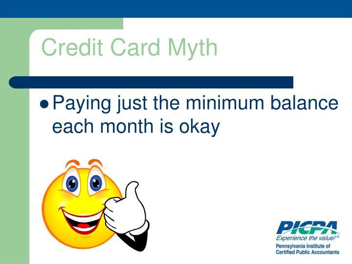 Credit Card Myth