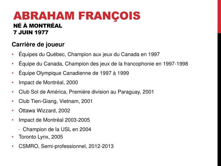Abraham François