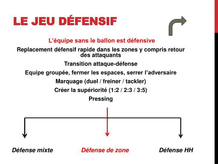 Le jeu défensif