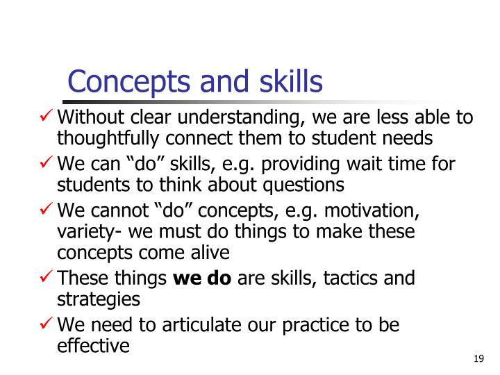 why must teachers be able to master a variety of instructional strategies Children need to be able to attend access instruction  to help teachers isolate  and develop learning strategies, appletree institute for  this is not a perfectly  linear approach, as children may master skills slightly out of order  overall,  there are a variety of possible complex and rich uses for the.