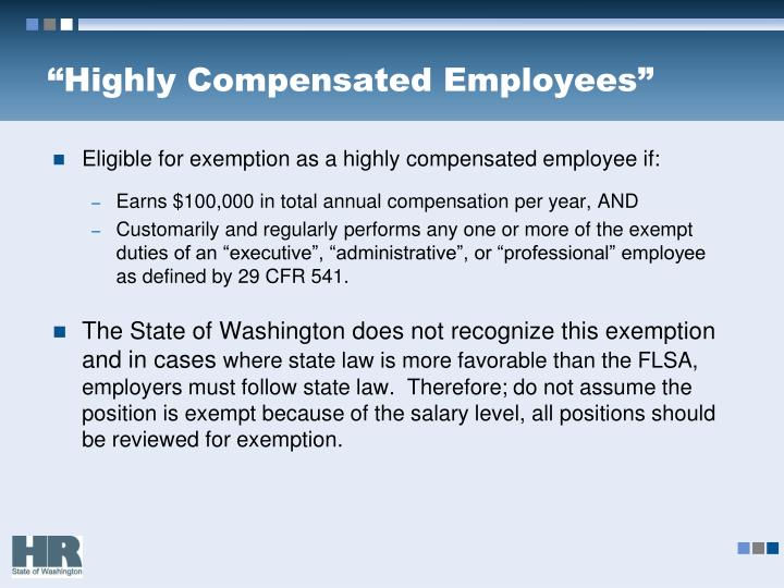 """Highly Compensated Employees"""