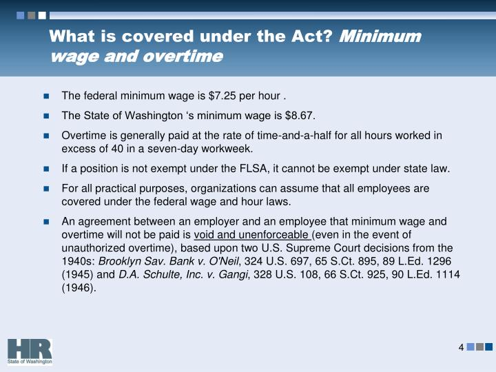 What is covered under the Act?