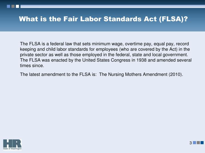 What is the fair labor standards act flsa