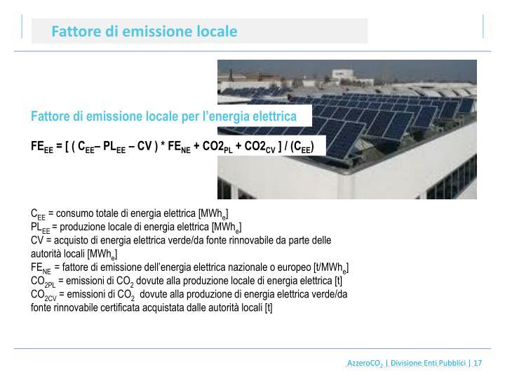 Fattore di emissione locale