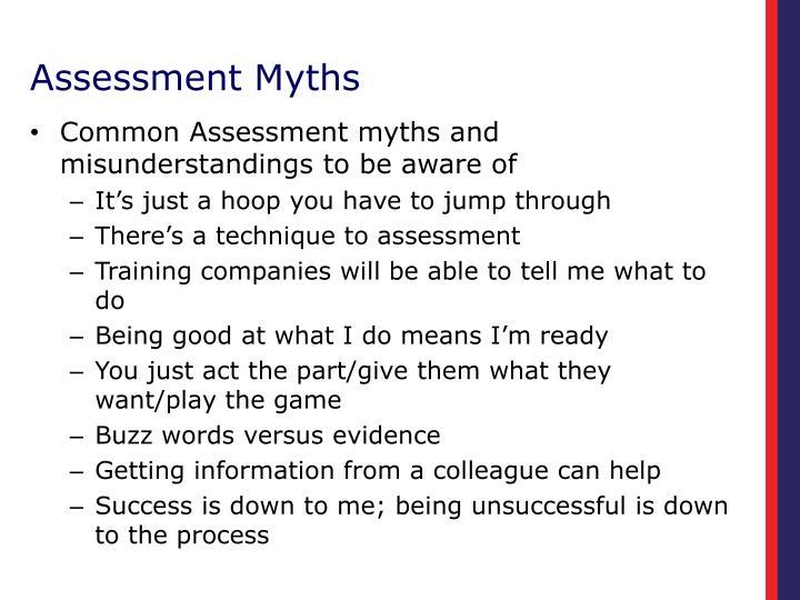Assessment Myths