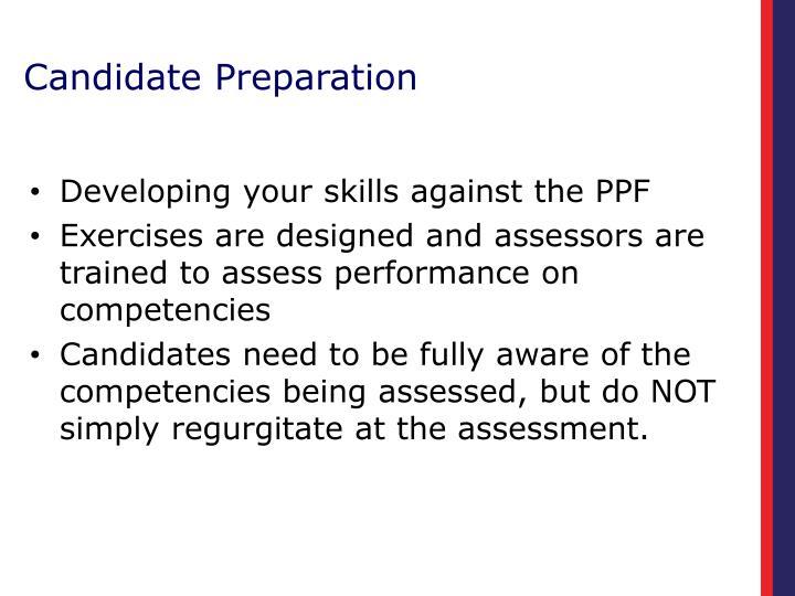 Candidate Preparation