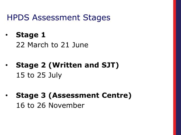 HPDS Assessment Stages