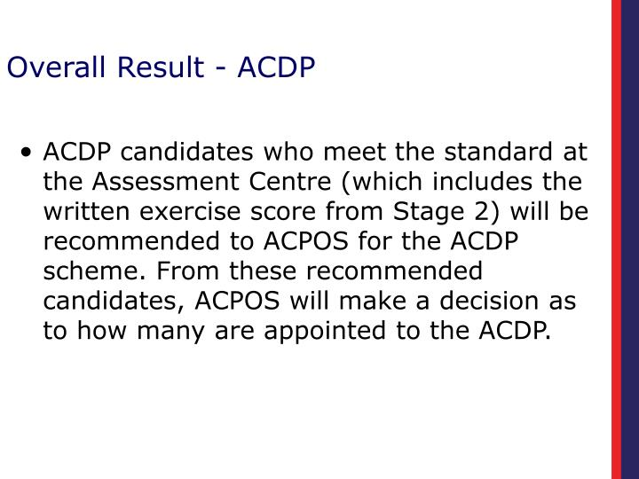Overall Result - ACDP