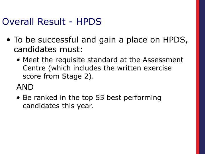 Overall Result - HPDS