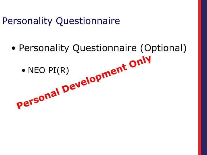 Personality Questionnaire