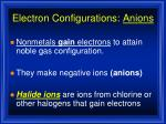 electron configurations anions