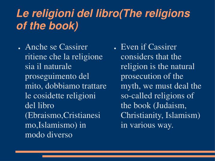 Le religioni del libro the religions of the book