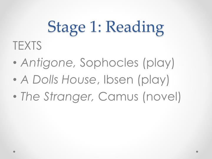 Stage 1 reading
