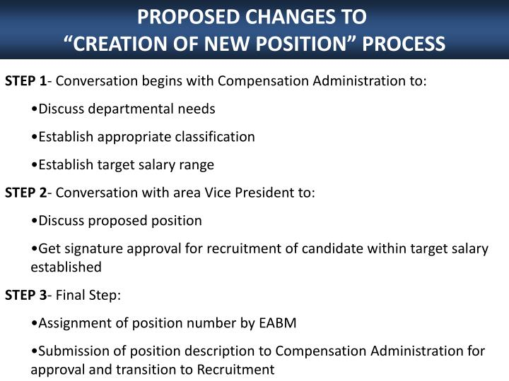 PROPOSED CHANGES TO