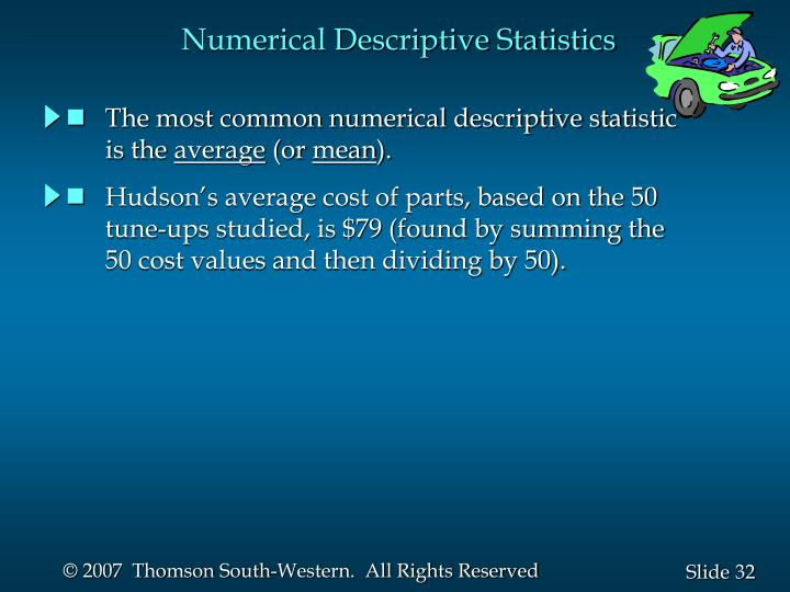 Numerical Descriptive Statistics