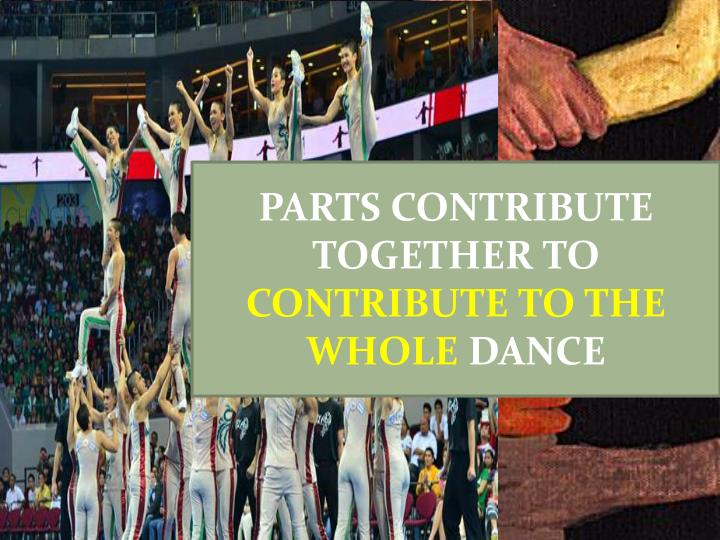 PARTS CONTRIBUTE TOGETHER TO