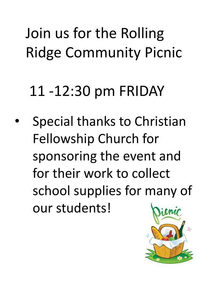Join us for the Rolling Ridge Community