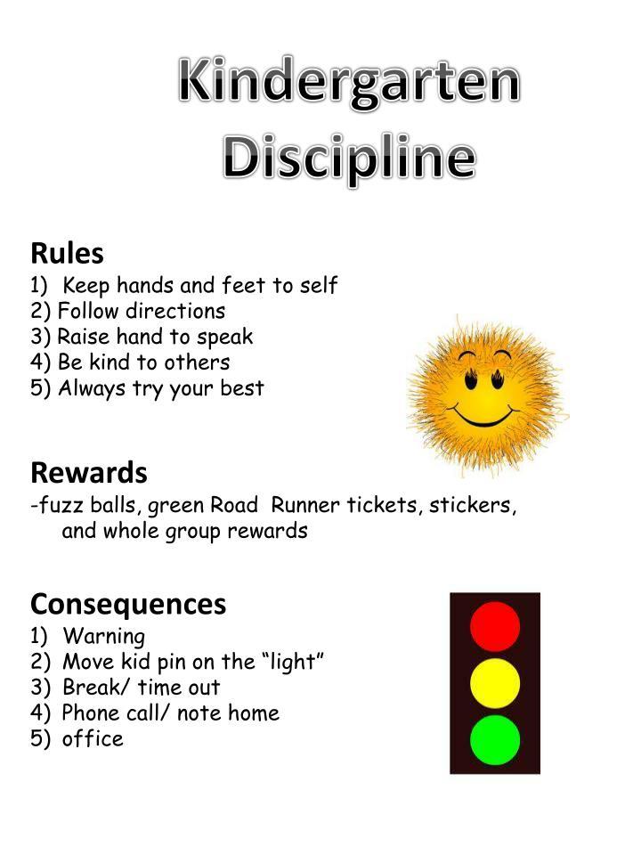 Kindergarten Discipline