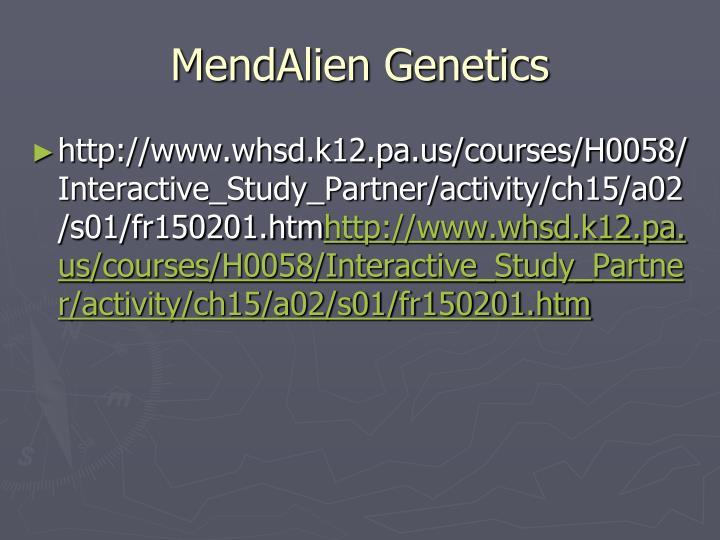 MendAlien Genetics