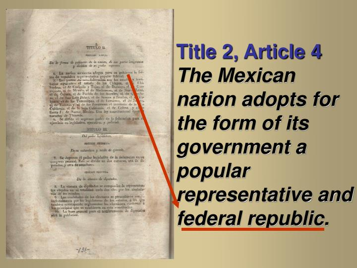 Title 2, Article 4