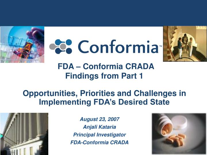 FDA – Conformia CRADA