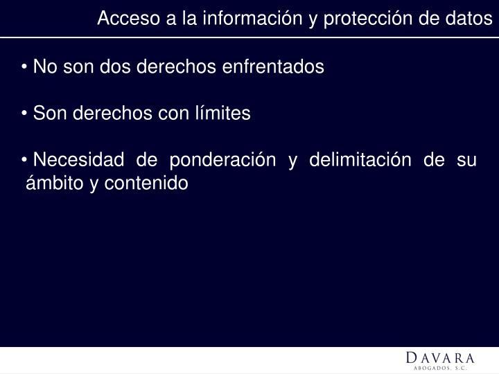 Acceso a la información y protección de datos