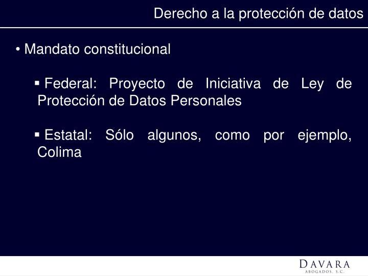 Derecho a la protección de datos