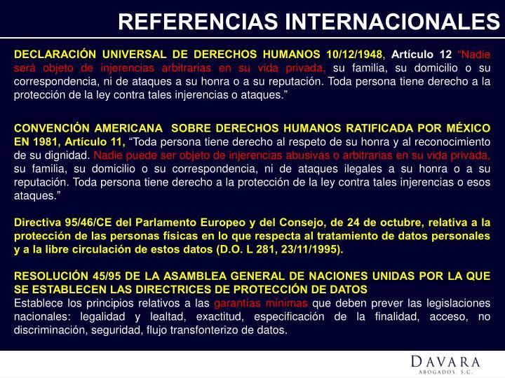 REFERENCIAS INTERNACIONALES